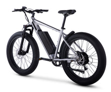 Rear View of Brushed Aluminum HyperFat Fat Tire Electric Bike