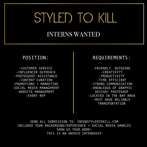 INTERNS WANTED!
