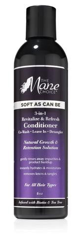 The Mane Choice - Soft As Can Be Revitalize & Refresh 3-in-1 Co-Wash, Leave In, Detangler 8oz