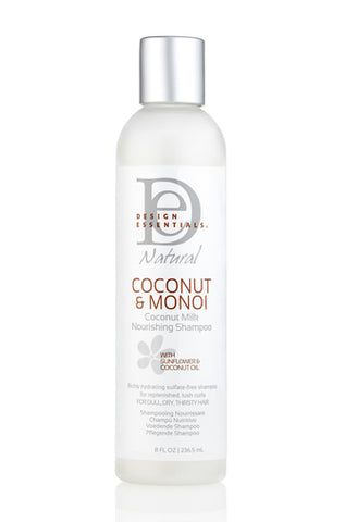 Design Essential Naturals Coconut & Monoi Coconut Milk Nourishing Shampoo 8oz