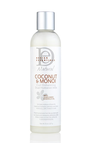 Design Essential Naturals Coconut & Monoi Curl Enhancing Dual Hydration Milk 8oz
