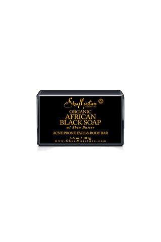 SheaMoisture Organic African Black Face & Body Bar 3.5oz/101g
