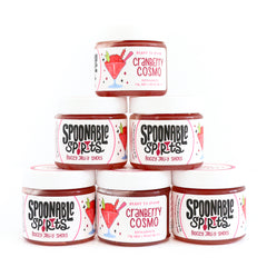 Spoonable Spirits Cranberry Cosmo Jello Shot