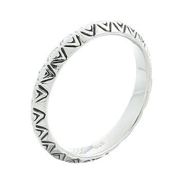 Hammered 925 Midi Ring