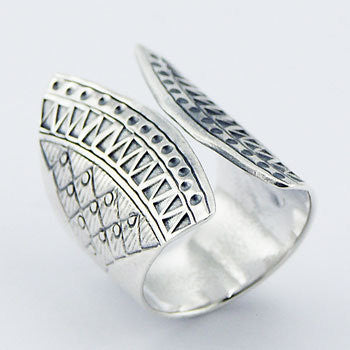 Aztec Cuff II 925 Ring - Boho Lake