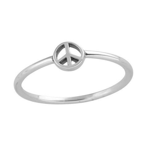 Dainty 925 Peace Ring - Boho Lake