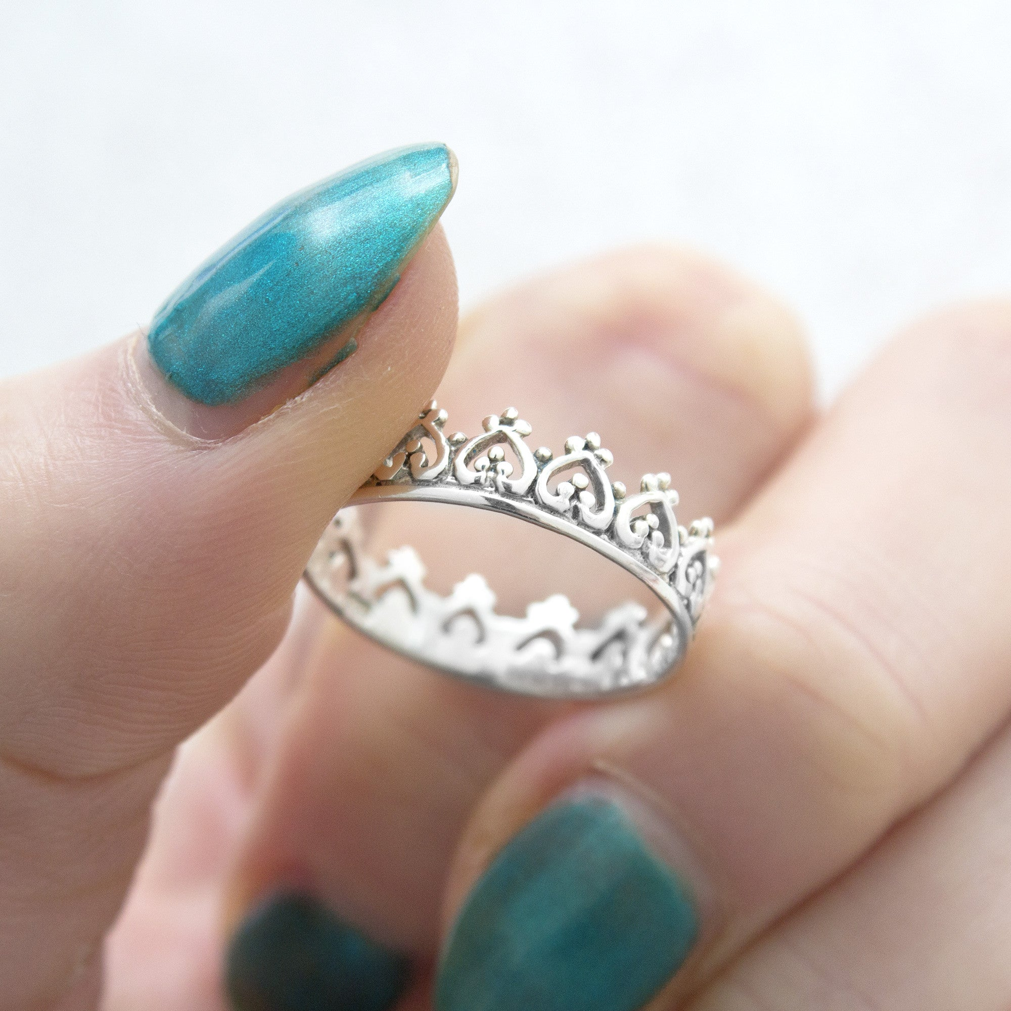 Crown 925 Stack Ring - Boho Lake