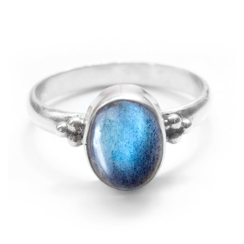 Mosa Labradorite 925 Ring - Boho Lake