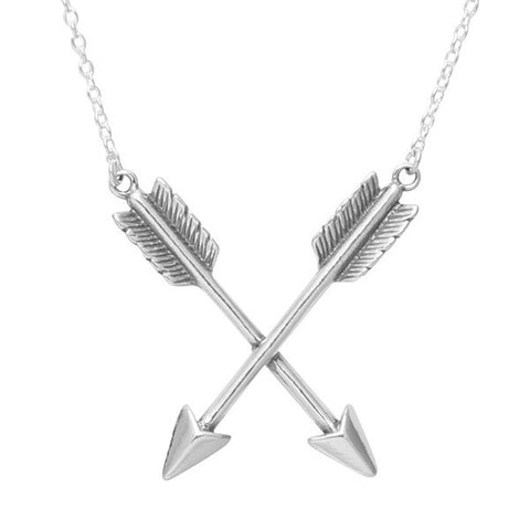 Crossed Arrows 925 Necklace - Boho Lake