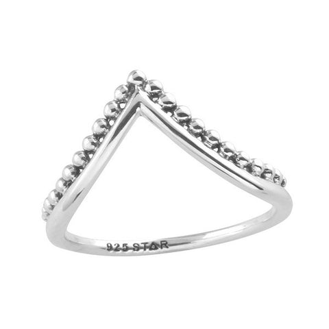 Beaded Arch 925 Ring - Boho Lake