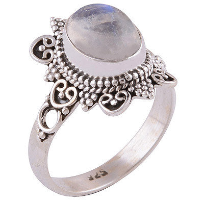 Orenda Rainbow Moonstone 925 Ring - Boho Lake