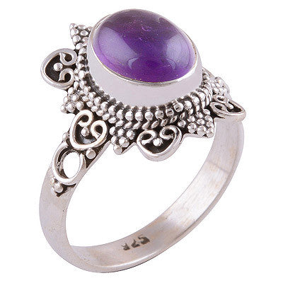 Orenda Amethyst 925 Ring - Boho Lake