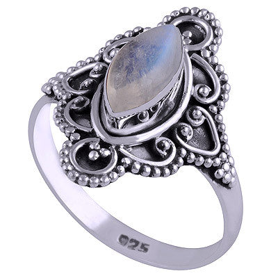 Eternal Flower Rainbow Moonstone 925 Ring