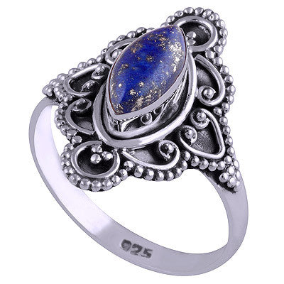 Vagary Lapis 925 Ring - Boho Lake