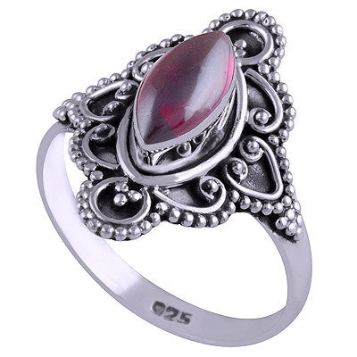 Vagary Garnet 925 Ring - Boho Lake