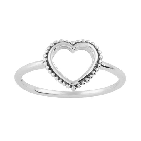 Beaded Wishbone 925 Ring
