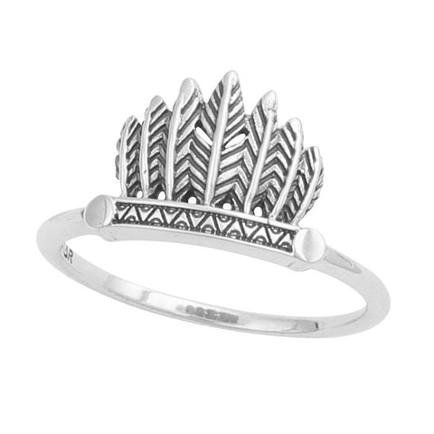 Feather Headdress 925 Ring - Boho Lake