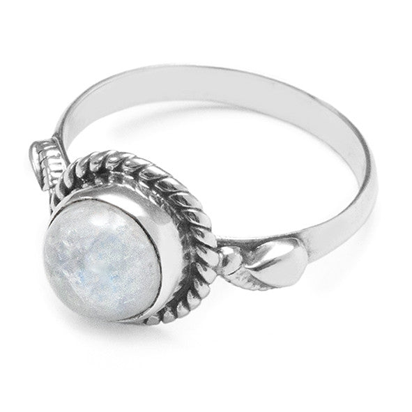 Rainbow Moonstone 925 Ring
