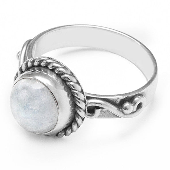 Rainbow Moonstone II 925 Ring