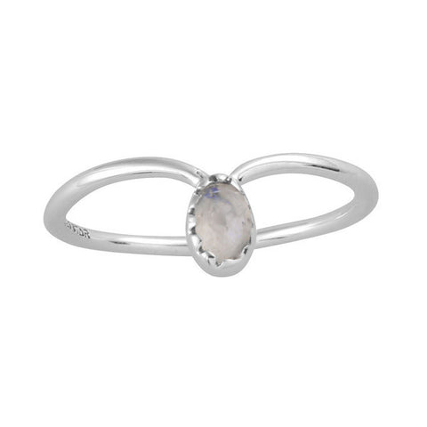 Nyx 925 Rainbow Moonstone Ring - Boho Lake