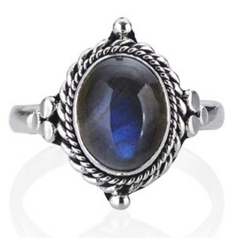 Azul Labradorite 925 Ring - Boho Lake