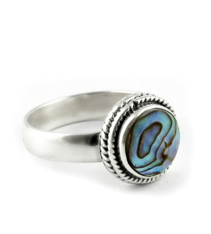 Abalone Shell 925 Ring - Boho Lake
