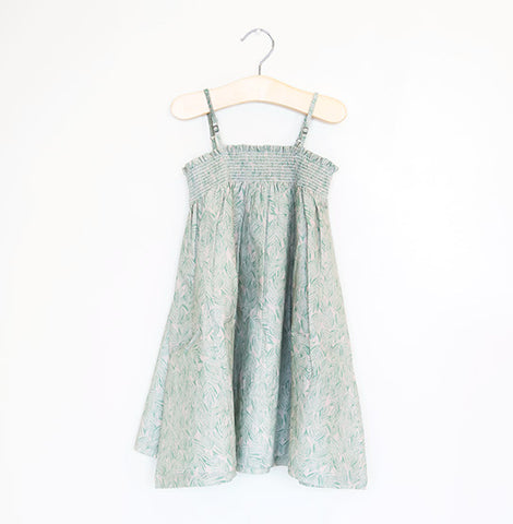 SPEARMINT LEAF SMOCKED SUNDRESS