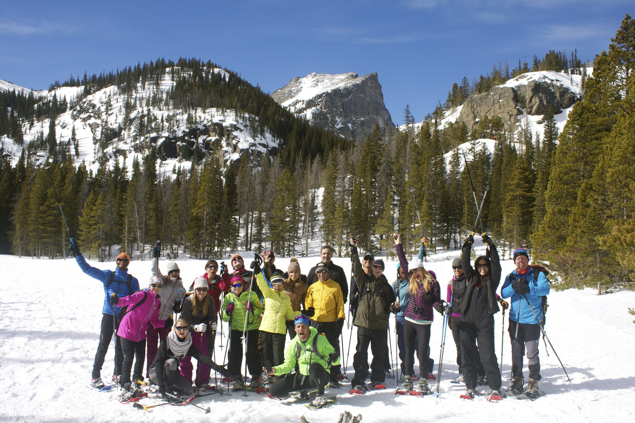 Snowshoeing in Estes Park with Melissa Arnot & Jeff Evans