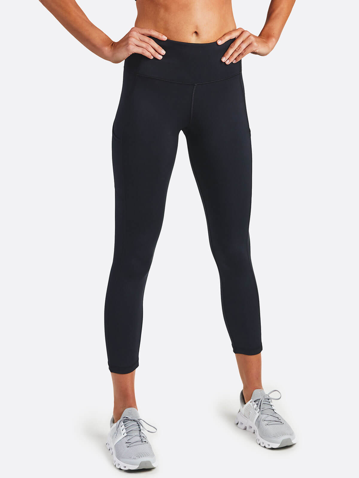 Women's Uptown High Rise 7/8 Pocket Legging (Black)(Kit)