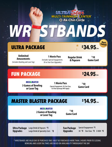 UltraStar Ultra Package Wristband