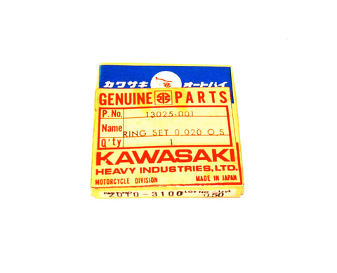 Kawasaki 13025-001 J1 J1T O.S. Piston Ring Set 0.020