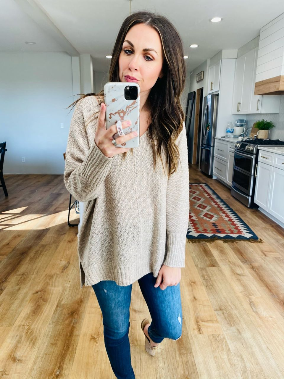 Soft Taupe Lightweight Sweater - VerClare Boutique