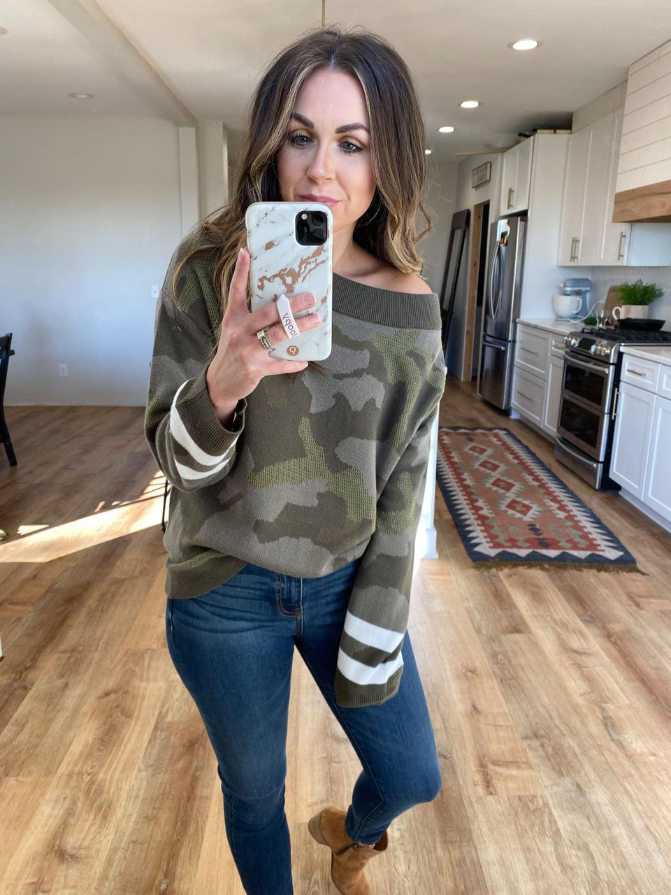Camouflage Pullover Sweater - VerClare Boutique