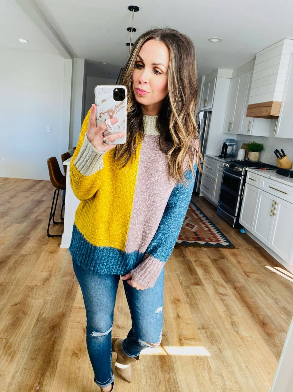 Maureen Colorblock Sweater - VerClare Boutique