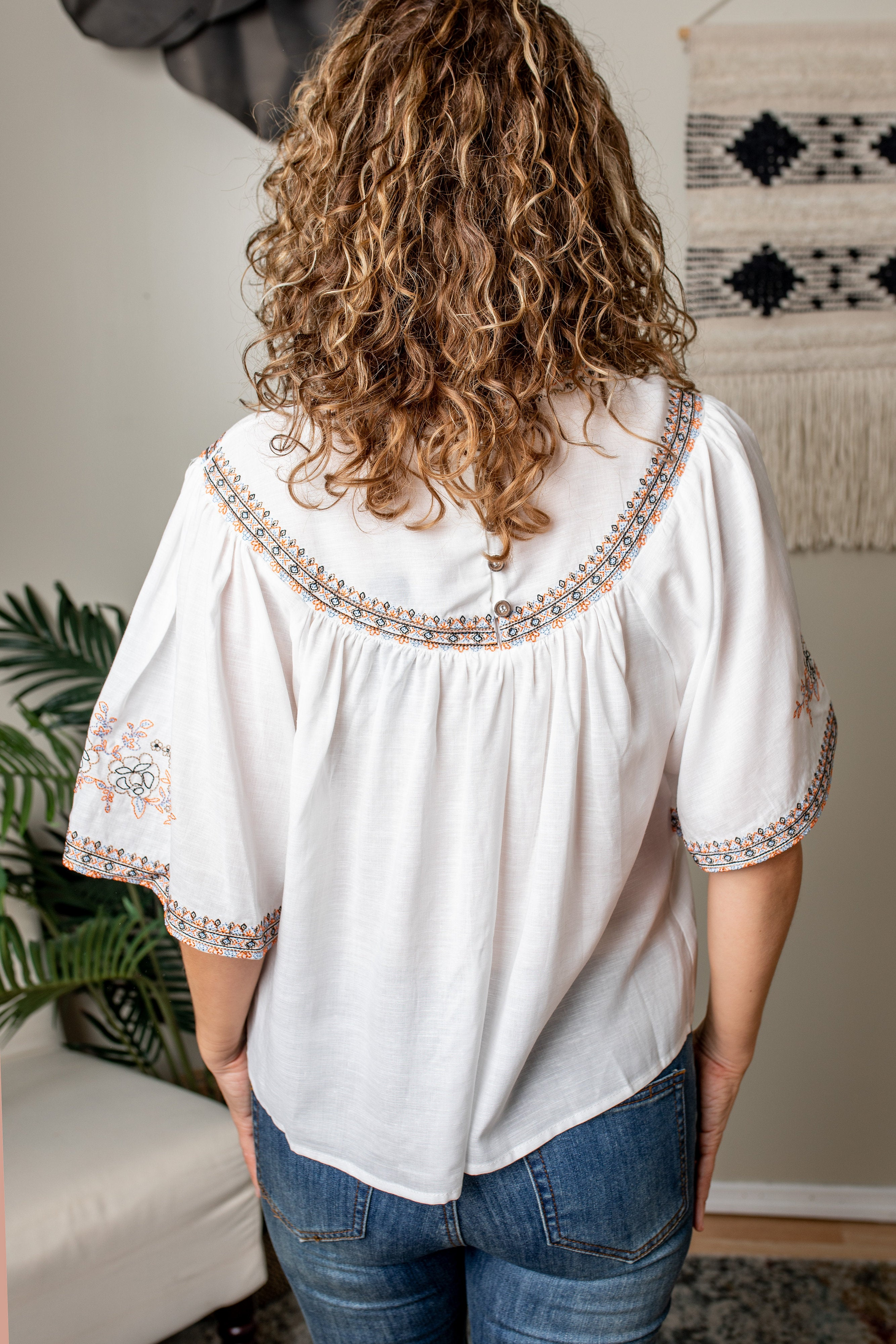 Mirabelle Embroidered Blouse | VerClare Boutique