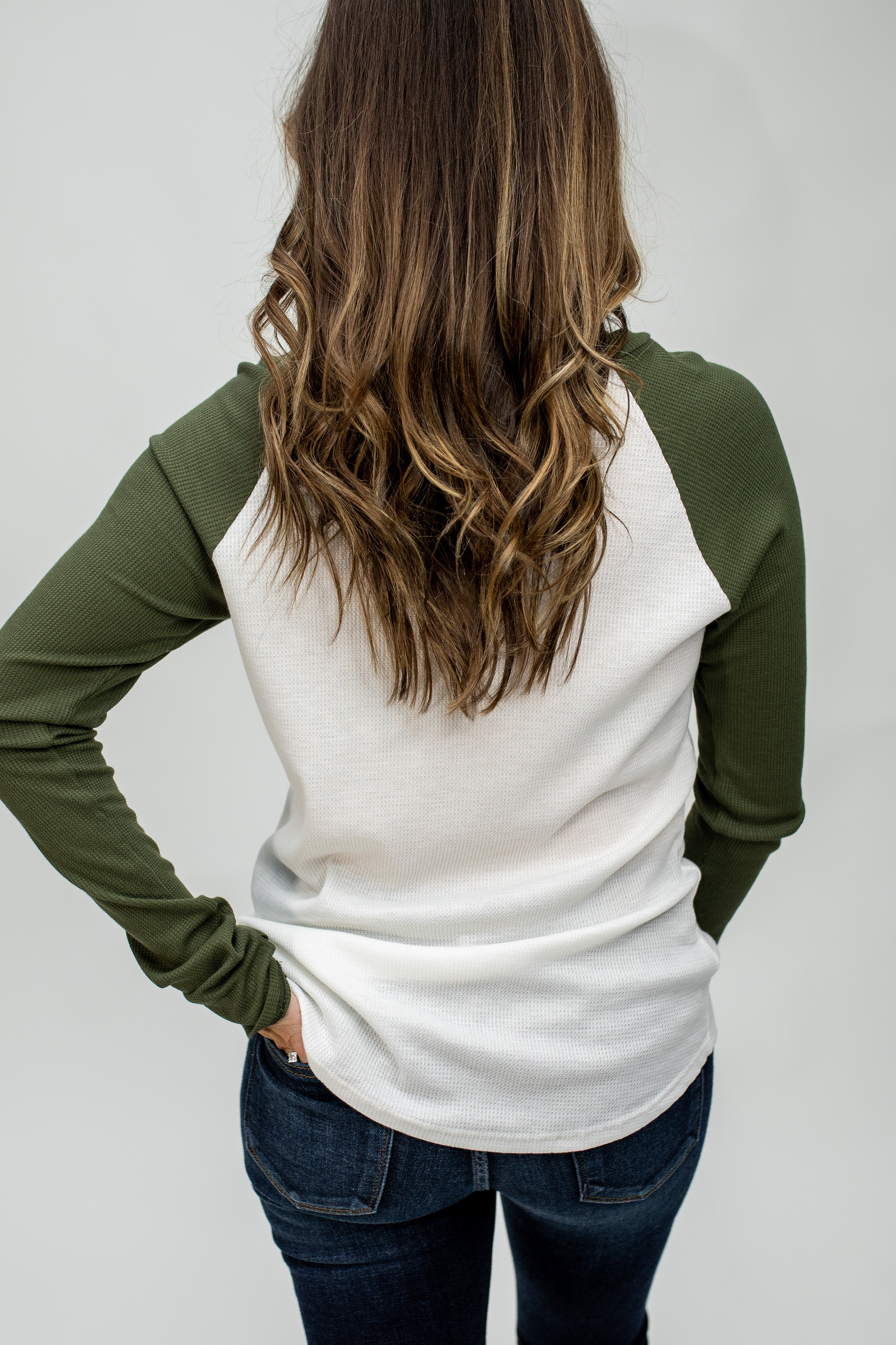 Fall Raglan Thermal-Olive