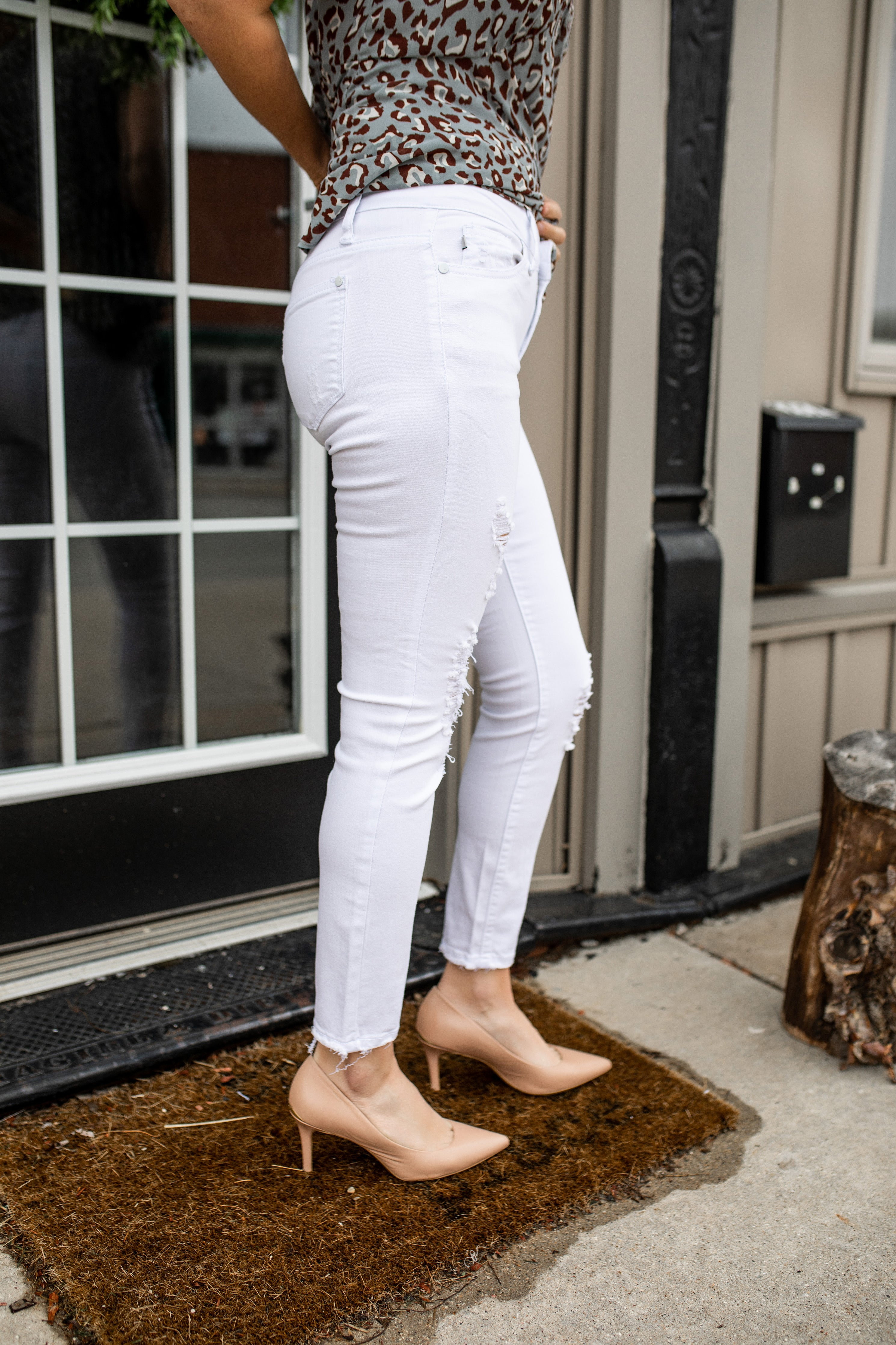 Mid-Rise Cropped Skinny Jeans | VerClare Boutique