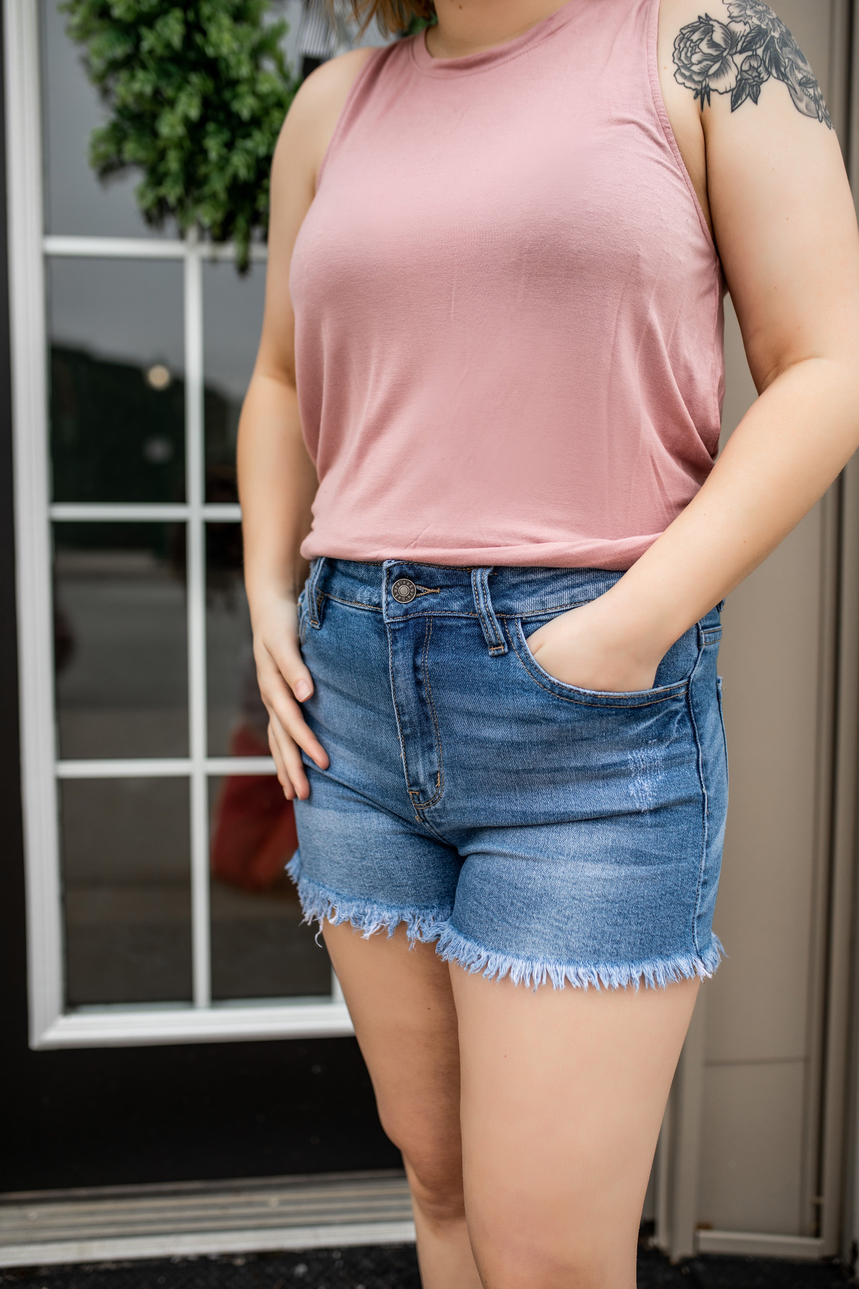 Shelby Denim Shorts | VerClare Boutique