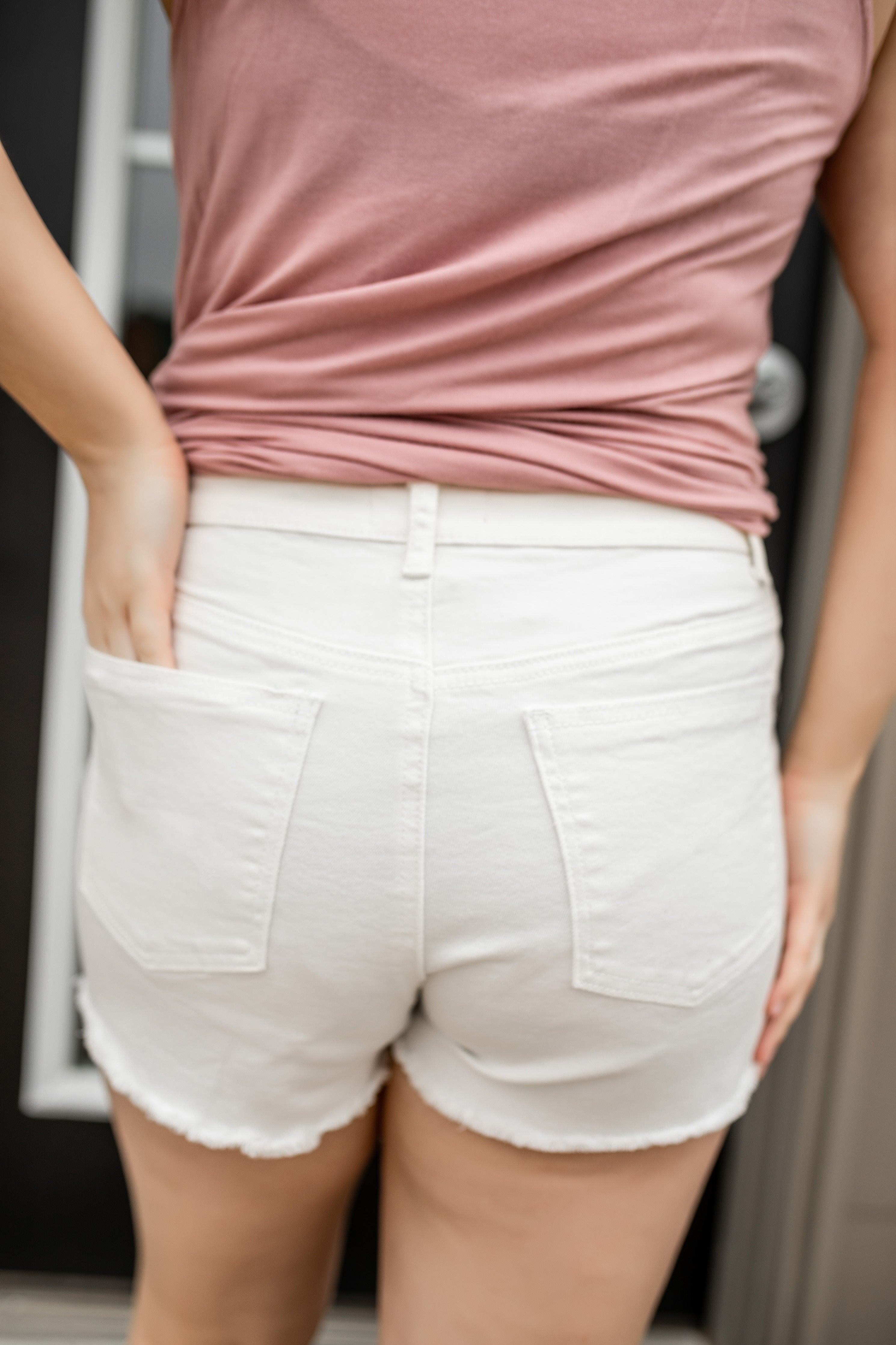Stephanie High Rise Shorts | VerClare Boutique