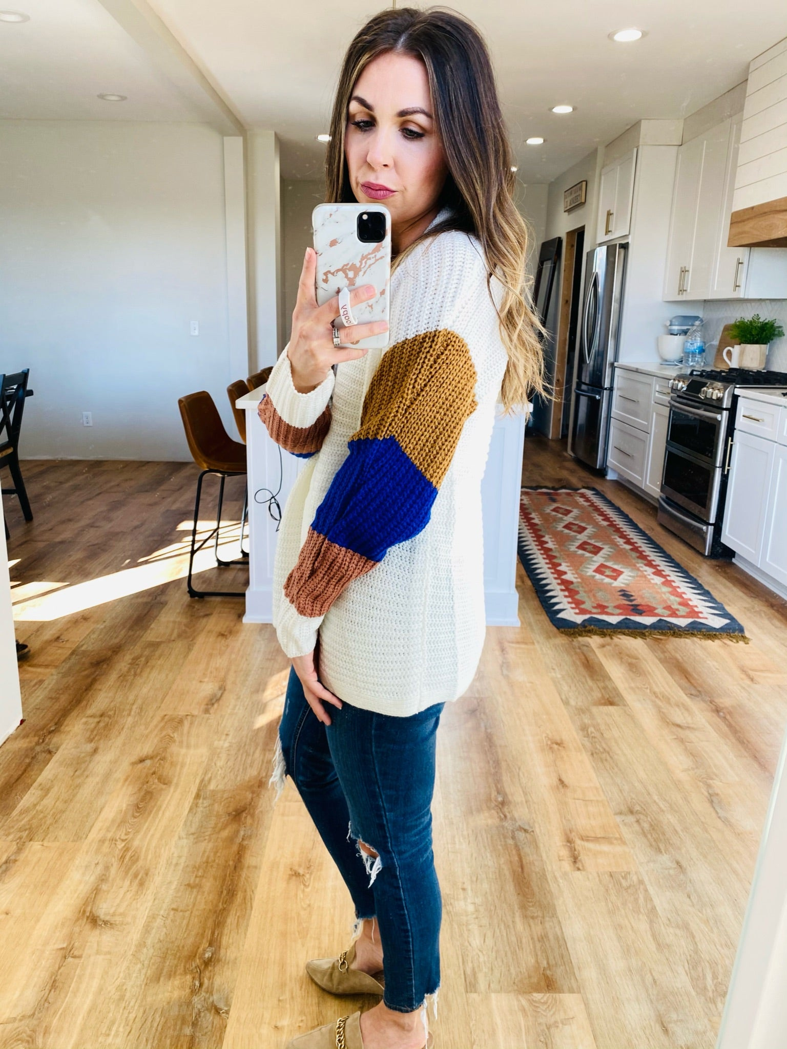 Rib Textured Ivory Cardigan - VerClare Boutique