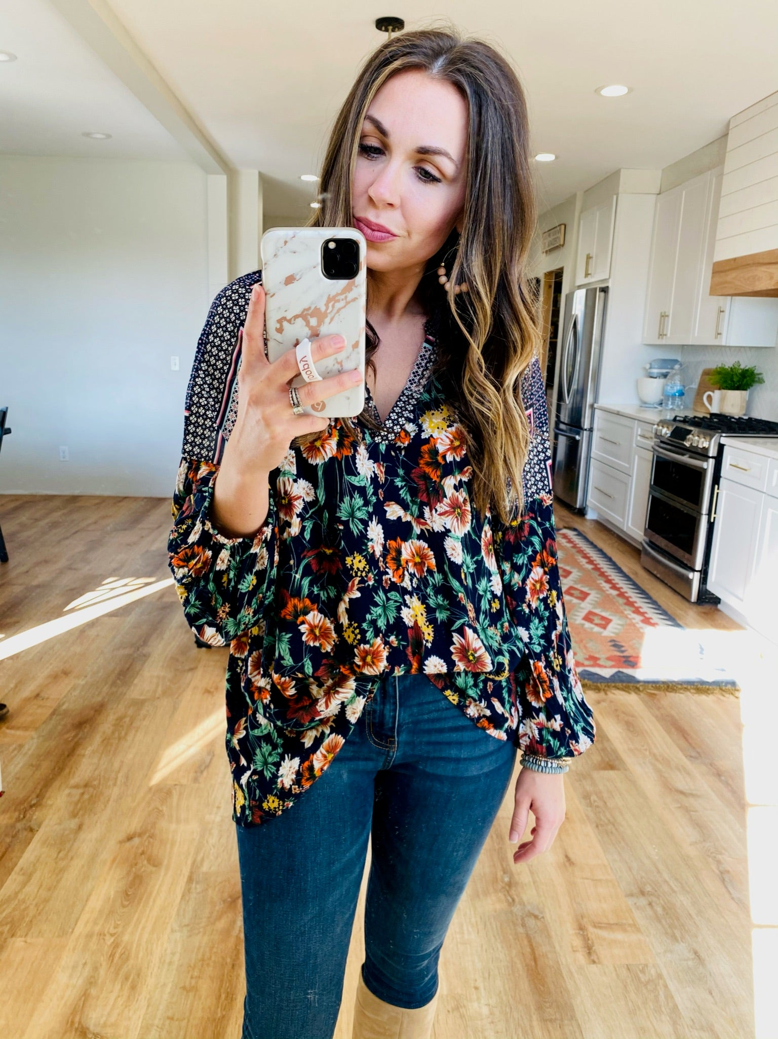 Floral Splash Top - VerClare Boutique