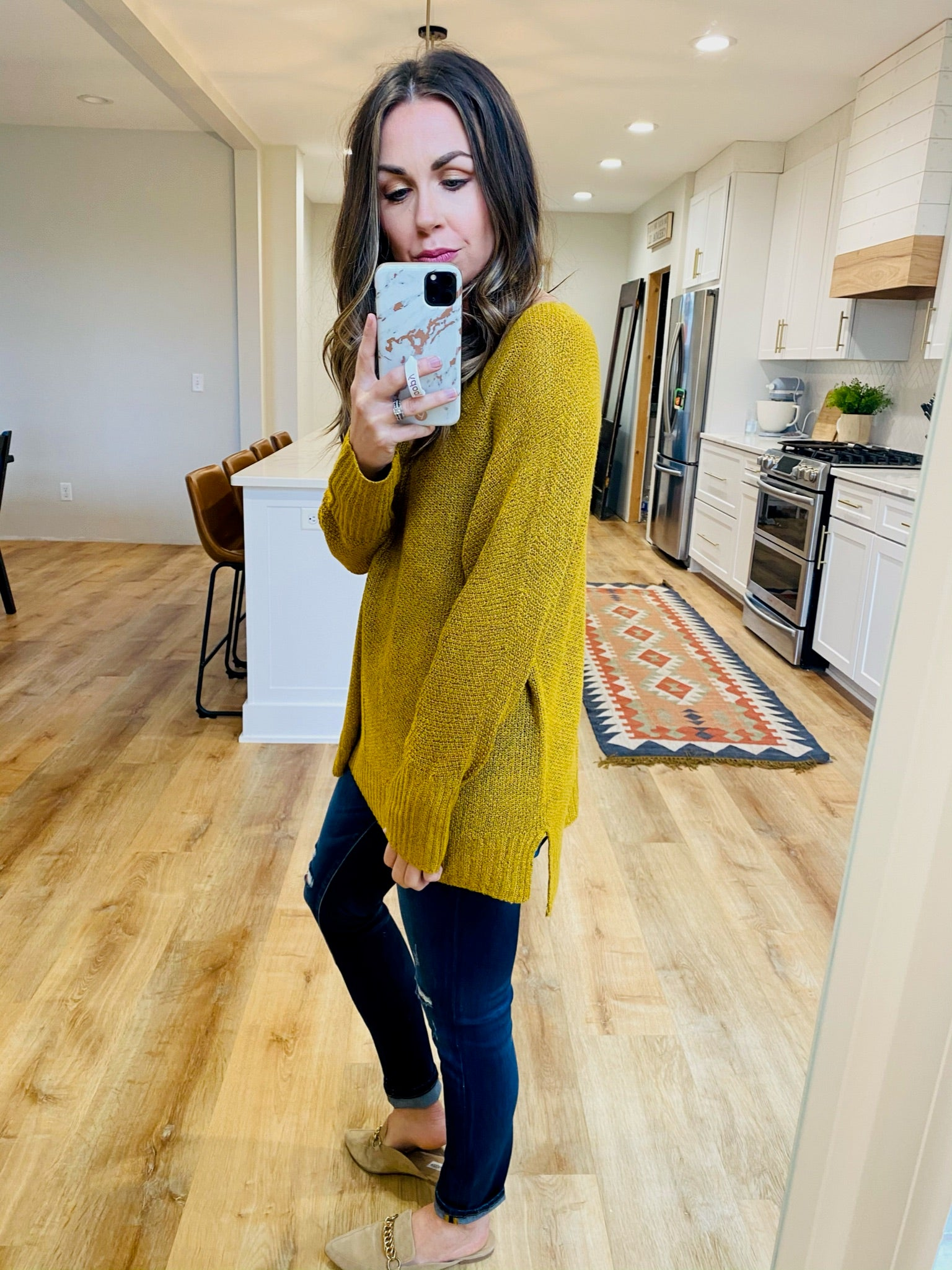 Soft Mustard Lightweight Sweater - VerClare Boutique