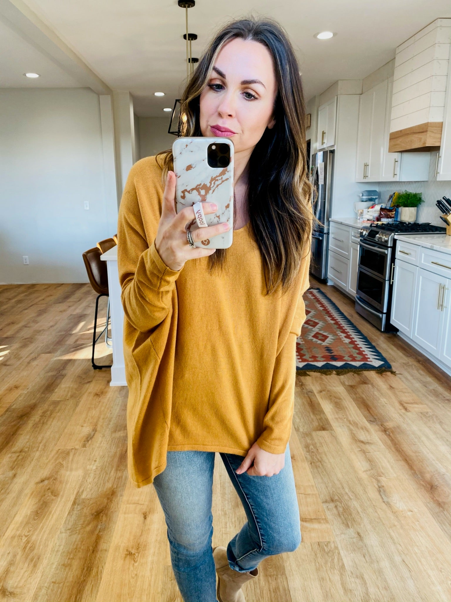 Relaxed Slouchy Sweater Top-6 Colors - VerClare Boutique