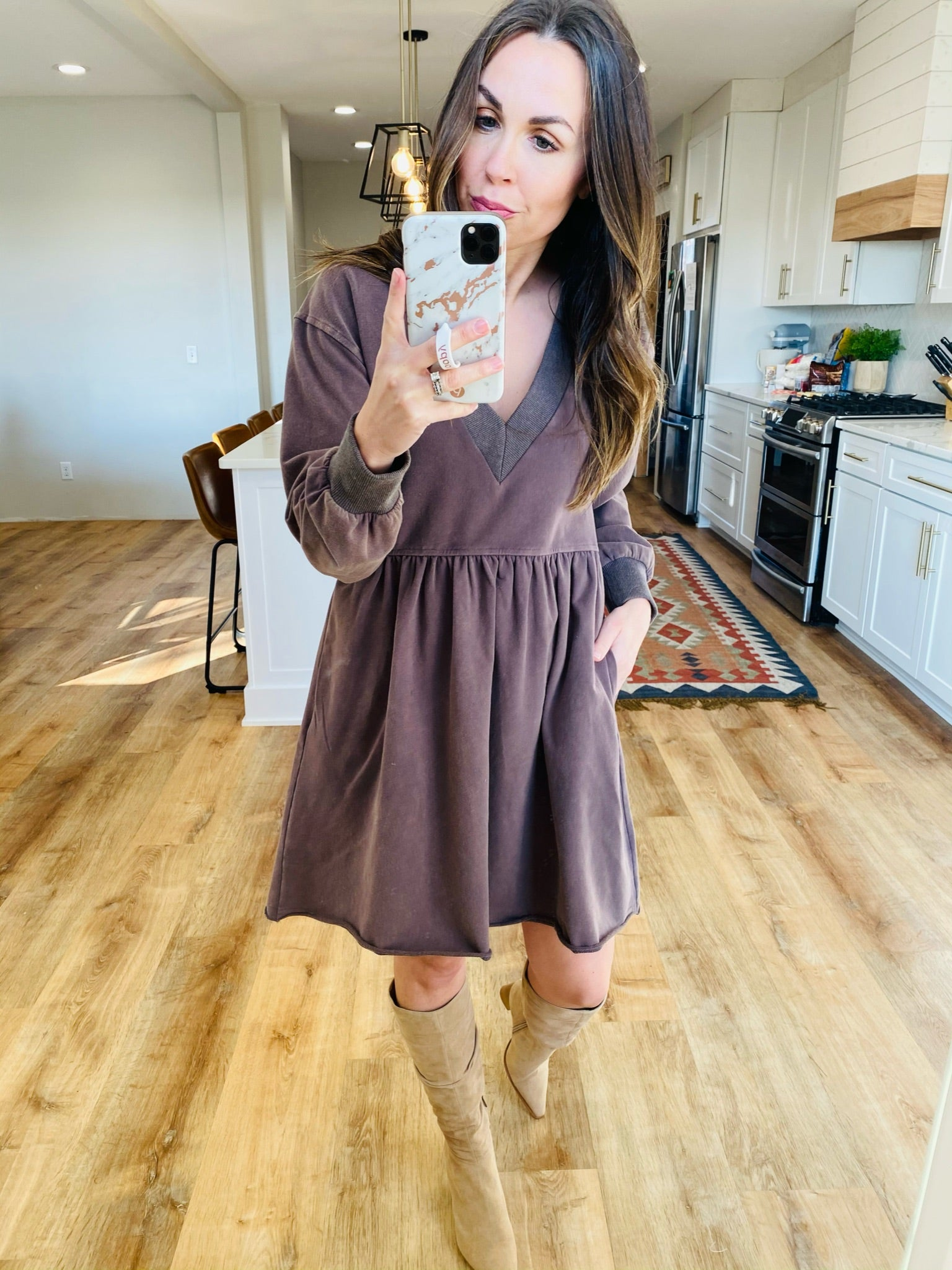 Baby Doll Knit Dress - VerClare Boutique