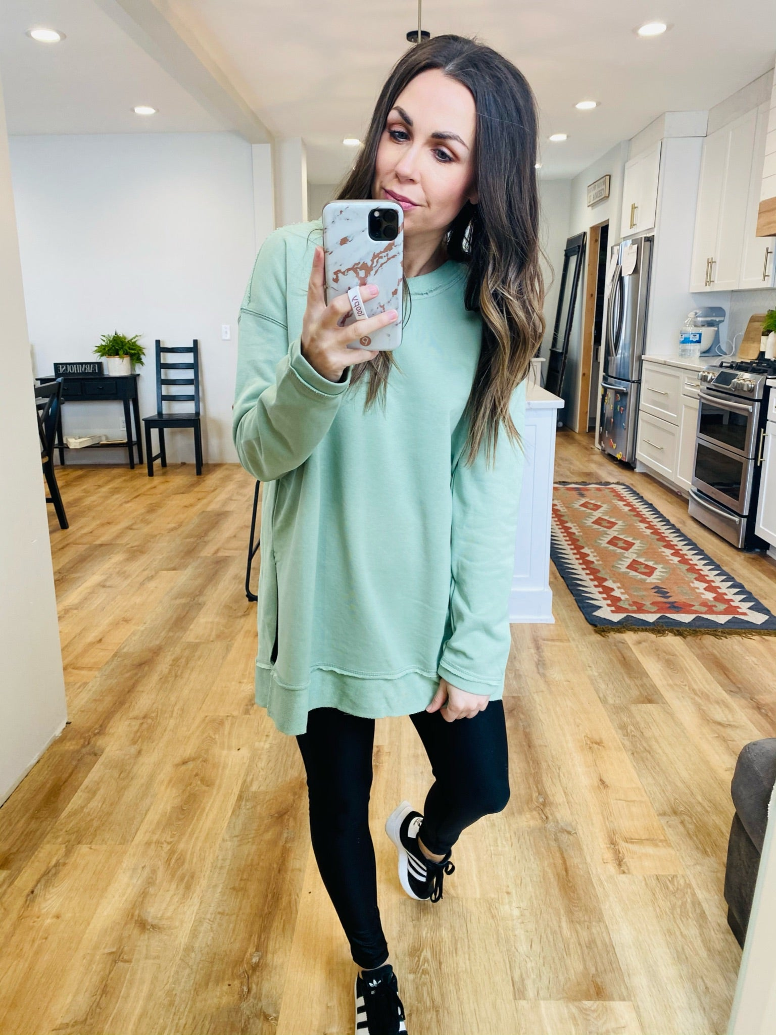 Inside-Out Banded Sweatshirt - VerClare Boutique