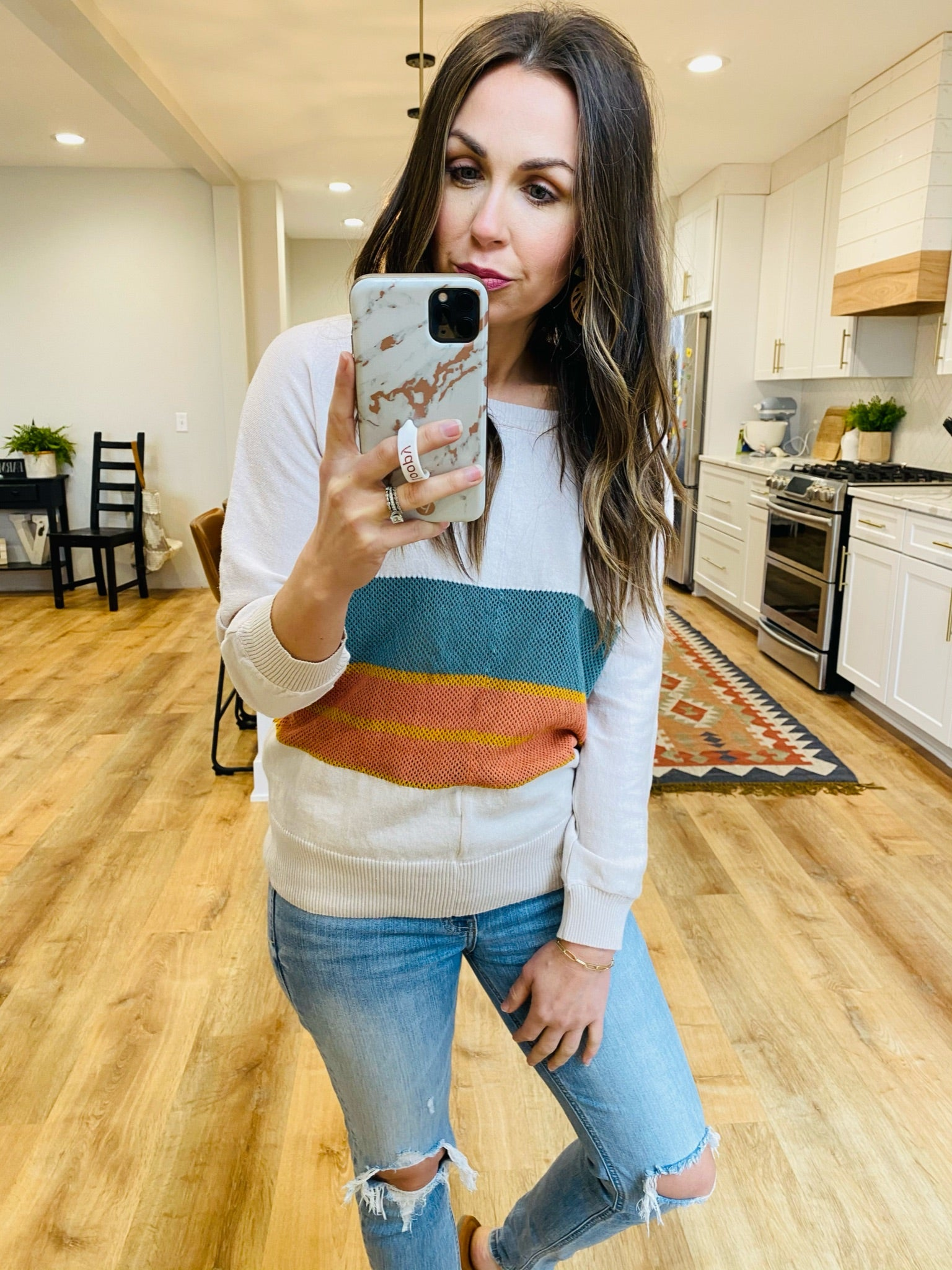 Seaside Colorblock Sweater - VerClare Boutique