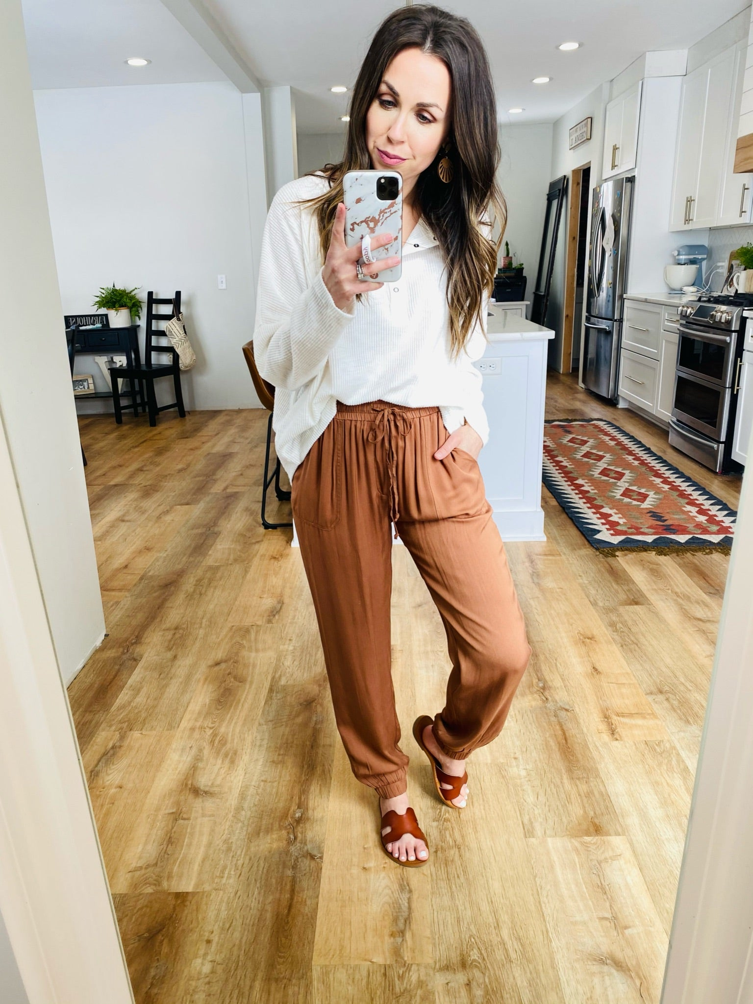 Copper Tie-Waist Jogger Pants - VerClare Boutique