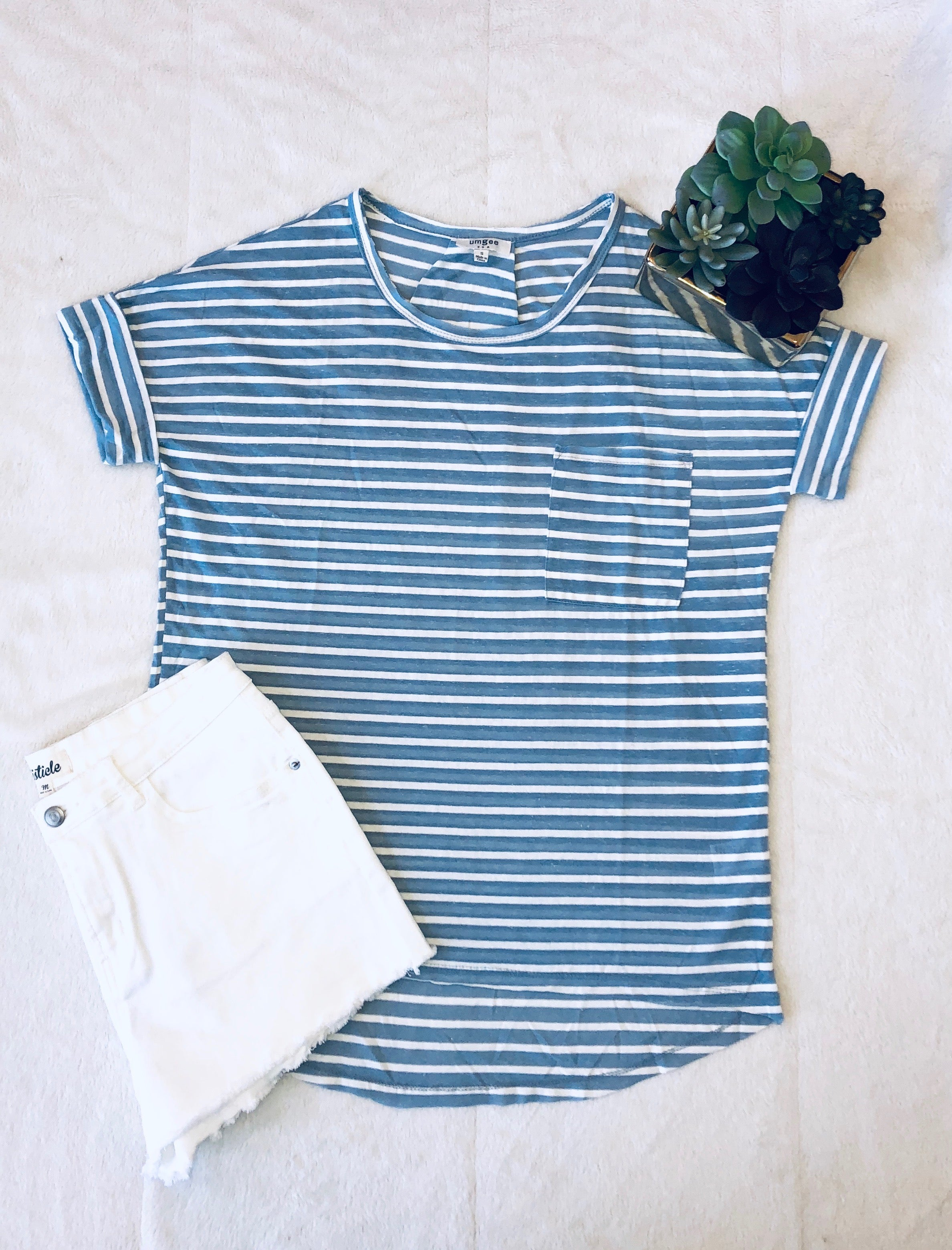 Ellen Striped Tee | VerClare Boutique