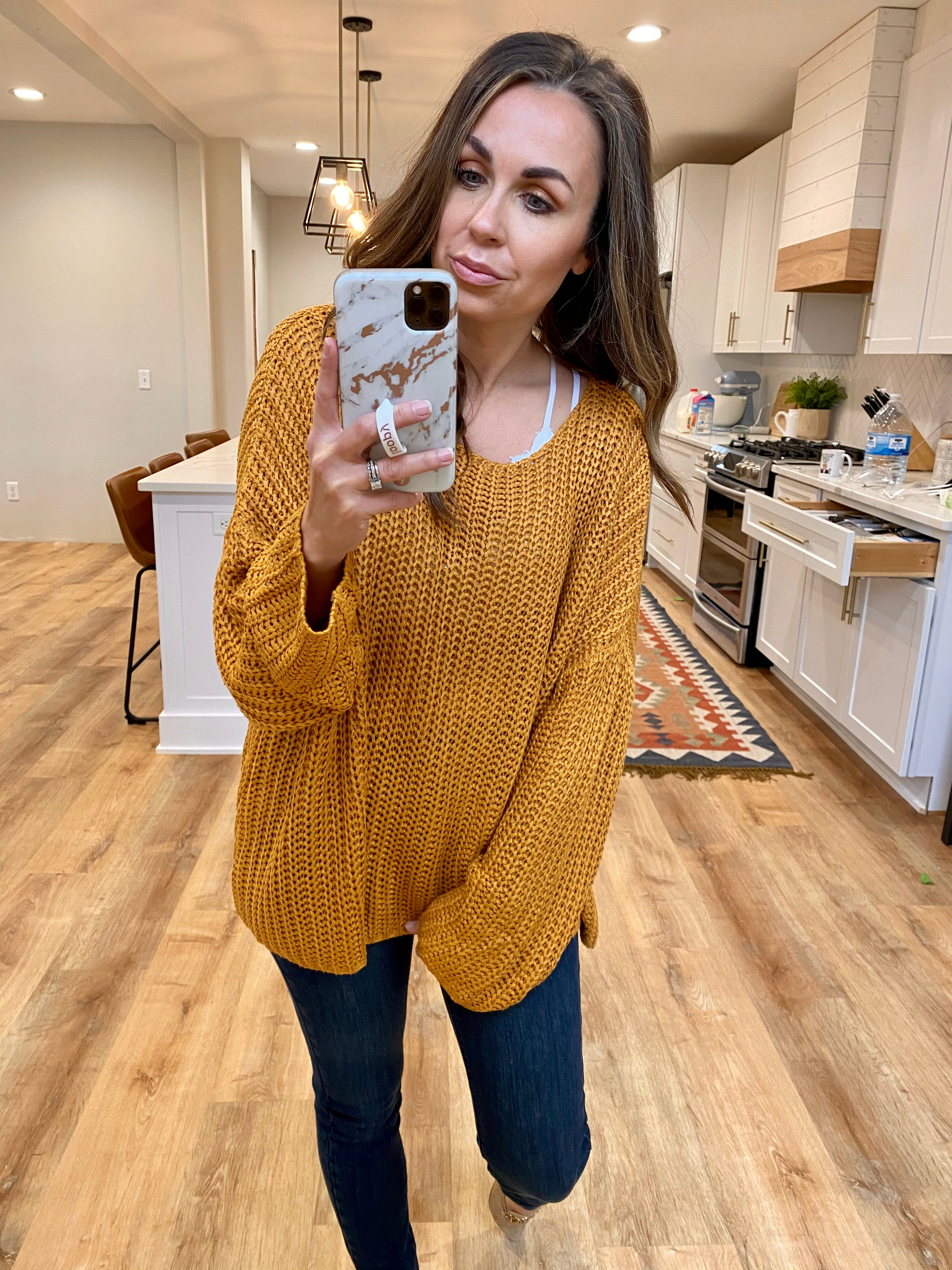 Loose Knit Butterscotch Pullover - VerClare Boutique