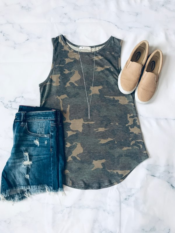 Relaxed Camo Tank | VerClare Boutique